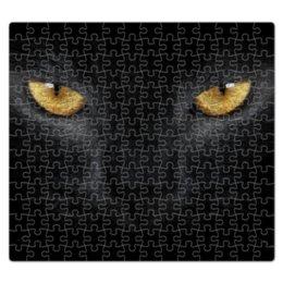 """Пазл магнитный 27.4 x 30.4 (210 элементов) """"кошка"""" - кошка, cat, черная кошка, black cat"""