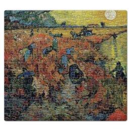 """Пазл магнитный 27.4 x 30.4 (210 элементов) """"Красные виноградники в Арле. Монмажур"""" - картина, ван гог"""