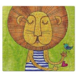"""Пазл магнитный 27.4 x 30.4 (210 элементов) """"Олень с цветами в рогах"""" - лев, акварель, грива, бонифаций, тельняжка"""