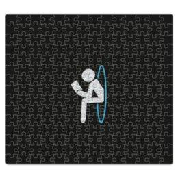 """Пазл магнитный 27.4 x 30.4 (210 элементов) """"Портал"""" - portal, человечек, портал, читает книгу"""