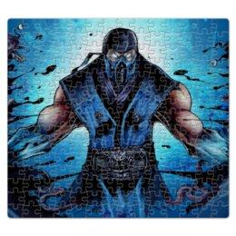 """Пазл магнитный 27.4 x 30.4 (210 элементов) """"Mortal Kombat X (Sub-Zero)"""" - воин, боец, sub-zero, mortal kombat"""
