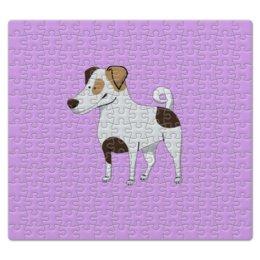 """Пазл магнитный 27.4 x 30.4 (210 элементов) """"ДЖЕК РАССЕЛ.СОБАКА"""" - майкл джексон, щенок, собака, животное, рассел"""