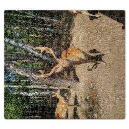 """Пазл магнитный 27.4 x 30.4 (210 элементов) """"Магнитный паззл Олень"""" - животные, олень, паззл"""