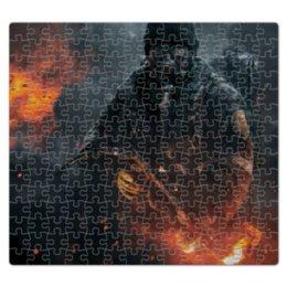 """Пазл магнитный 27.4 x 30.4 (210 элементов) """"Warfare"""" - война, огонь, человек, военный, огнемет"""