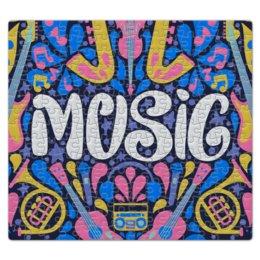 "Пазл магнитный 27.4 x 30.4 (210 элементов) ""Music"" - музыка, music, музыкальные инструменты, ноты"
