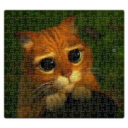 """Пазл магнитный 27.4 x 30.4 (210 элементов) """"Кот в сапогах из мультфильма """"Шрек"""""""" - шрек, кот в сапогах, шрек 2"""