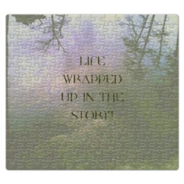 "Пазл магнитный 27.4 x 30.4 (210 элементов) ""Стиль арт-фэшн ""pine forest"""" - надписи, лес, природа, фэнтази, author's photo"