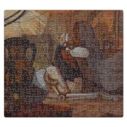 """Пазл магнитный 27.4 x 30.4 (210 элементов) """"Коллекция"""" - иллюстрация, робот, волк, фантастика"""