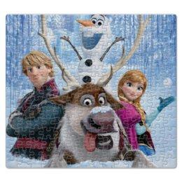 """Пазл магнитный 27.4 x 30.4 (210 элементов) """"Главные герои мультфильма """"Холодное сердце"""""""" - снеговик, frozen, холодное сердце, принцесса анна"""