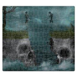 """Пазл магнитный 27.4 x 30.4 (210 элементов) """"Dark Art"""" - skull, череп, любовь, skeleton, скелет"""