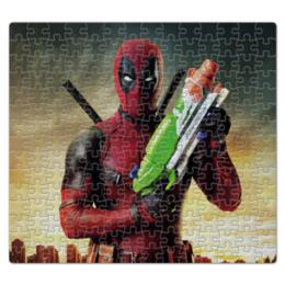 """Пазл магнитный 27.4 x 30.4 (210 элементов) """"Deadpool"""" - комиксы, супергерой, marvel, марвел, дэдпул"""