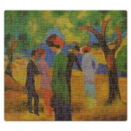 """Пазл магнитный 27.4 x 30.4 (210 элементов) """"Дама в зелёном жакете (Август Маке)"""" - картина, маке"""