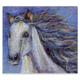 """Пазл магнитный 27.4 x 30.4 (210 элементов) """"К  звездам"""" - лошадь, акварель, скорость, фэнтези, живопись"""
