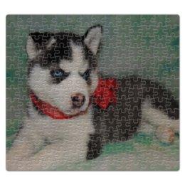"""Пазл магнитный 27.4 x 30.4 (210 элементов) """"Сибирский Хаски"""" - dog, щенок, husky, сибирский хаски"""