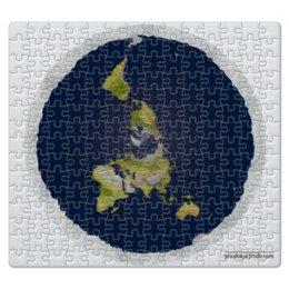 "Пазл магнитный 27.4 x 30.4 (210 элементов) """"Плоская Земля"""" - плоская земля, flat earth"