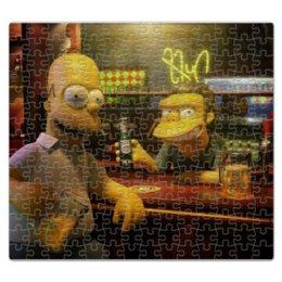 """Пазл магнитный 27.4 x 30.4 (210 элементов) """"Гомер Симпсон"""" - пиво, гомер симпсон, duff, пиво дафф, мо сизлак"""