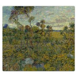 "Пазл магнитный 27.4 x 30.4 (210 элементов) ""Закат в Монмажуре (Винсент ван Гог)"" - картина, ван гог"