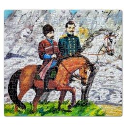 """Пазл магнитный 27.4 x 30.4 (210 элементов) """"Приключения на Кавказе"""" - ручная работа, детский рисунок, от детей, детская работа"""