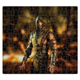 """Пазл магнитный 27.4 x 30.4 (210 элементов) """"Mortal Kombat (Scorpion)"""" - воин, боец, персонаж, mortal kombat, scorpion"""