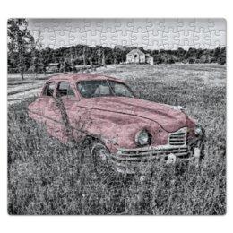 """Пазл магнитный 27.4 x 30.4 (210 элементов) """"Раритет 1"""" - автомобиль, машина, ретро, раритет, пейзаж"""