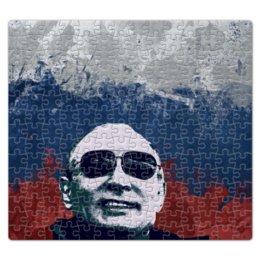 "Пазл магнитный 27.4 x 30.4 (210 элементов) ""Путин"" - очки, патриот, флаг, путин, putin"