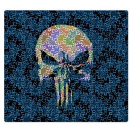 """Пазл магнитный 27.4 x 30.4 (210 элементов) """"Антипаззл Punisher Skull"""" - череп, заполнение, пятиугольники, антипаззл"""