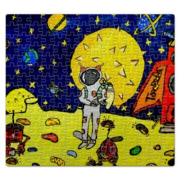 """Пазл магнитный 27.4 x 30.4 (210 элементов) """"Дети мечтают о космосе"""" - мысли, космос, мечты, дети"""