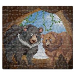 """Пазл магнитный 27.4 x 30.4 (210 элементов) """"Медведи"""" - медведь, мишка, пещера, медведица"""