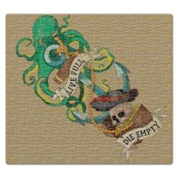 """Пазл магнитный 27.4 x 30.4 (210 элементов) """"Осьминог"""" - old school, пират, якорь, татуировка, череп"""