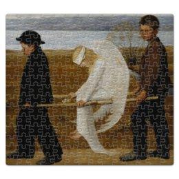 """Пазл магнитный 27.4 x 30.4 (210 элементов) """"Раненый ангел (Хуго Симберг)"""" - картина, симберг"""