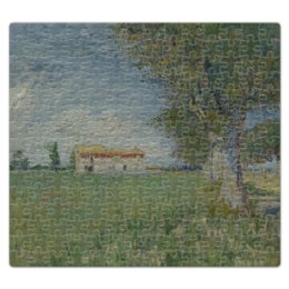 """Пазл магнитный 27.4 x 30.4 (210 элементов) """"Ферма в пшеничном поле (Винсент Ван Гог)"""" - картина, ван гог, живопись"""