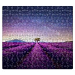 """Пазл магнитный 27.4 x 30.4 (210 элементов) """"Без названия"""" - космос, небо, природа, звёзды, лаванда"""