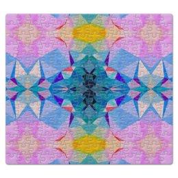 """Пазл магнитный 27.4 x 30.4 (210 элементов) """"Геометрическая мандала. Сияние."""" - голубой, желтый, розовый, синий"""