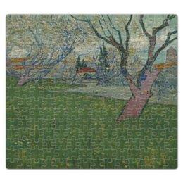 """Пазл магнитный 27.4 x 30.4 (210 элементов) """"Сады в цвету, вид на Арль (Ван Гог)"""" - картина, ван гог, живопись"""