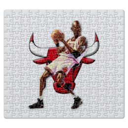 "Пазл магнитный 27.4 x 30.4 (210 элементов) ""Michael Jordan Cartooney"" - 23, чикаго, бык, chicago bulls, джордан"