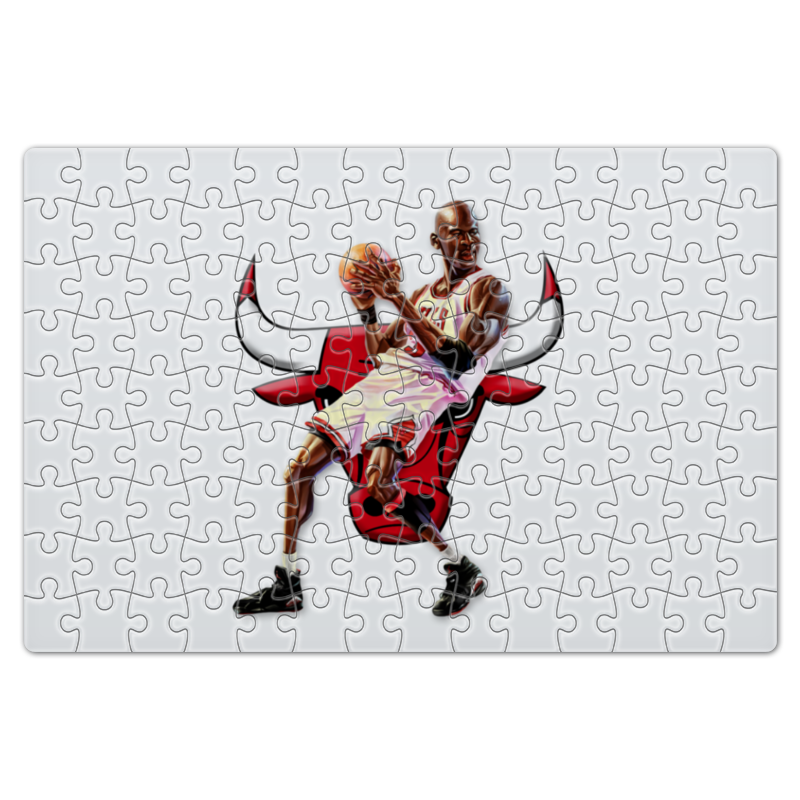 Пазл магнитный 18 x 27 (126 элементов) Printio Michael jordan cartooney велосипед bulls nandi street 27 5 2016