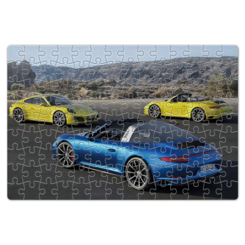 Пазл магнитный 18 x 27 (126 элементов) Printio Porsche 911 playmobil лицензионные автомобили porsche 911 targa 4s 5991