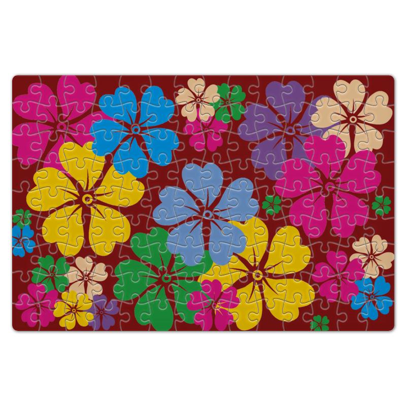 Пазл магнитный 18 x 27 (126 элементов) Printio Полянка с цветами