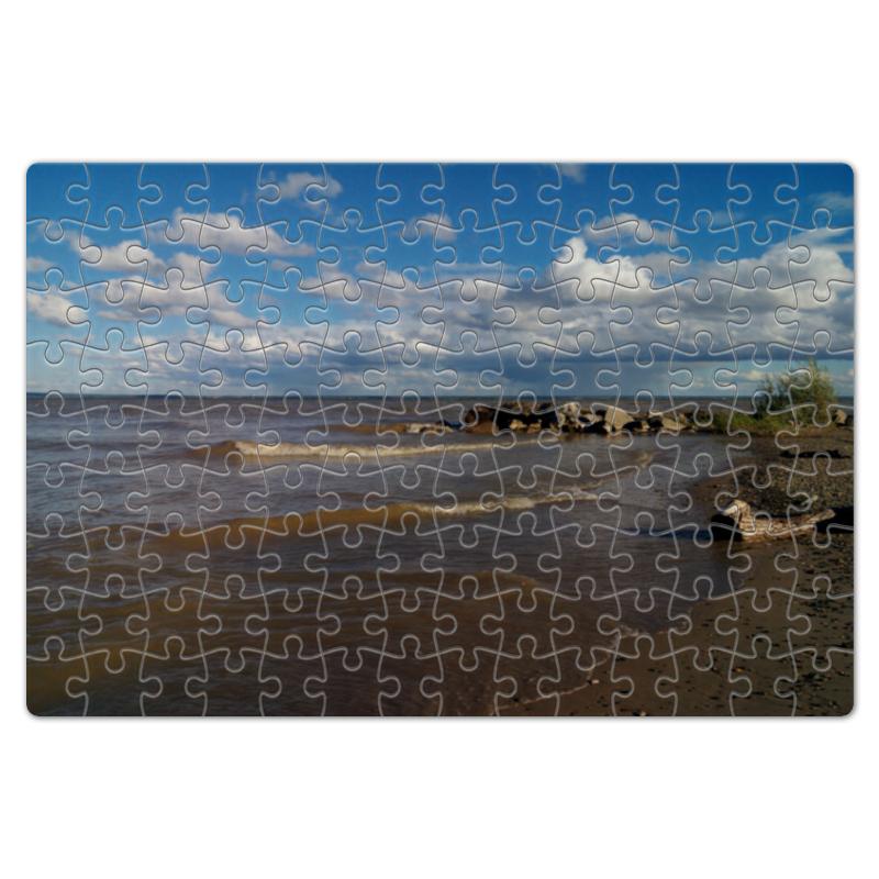 Пазл магнитный 18 x 27 (126 элементов) Printio Летний берег горящий берег