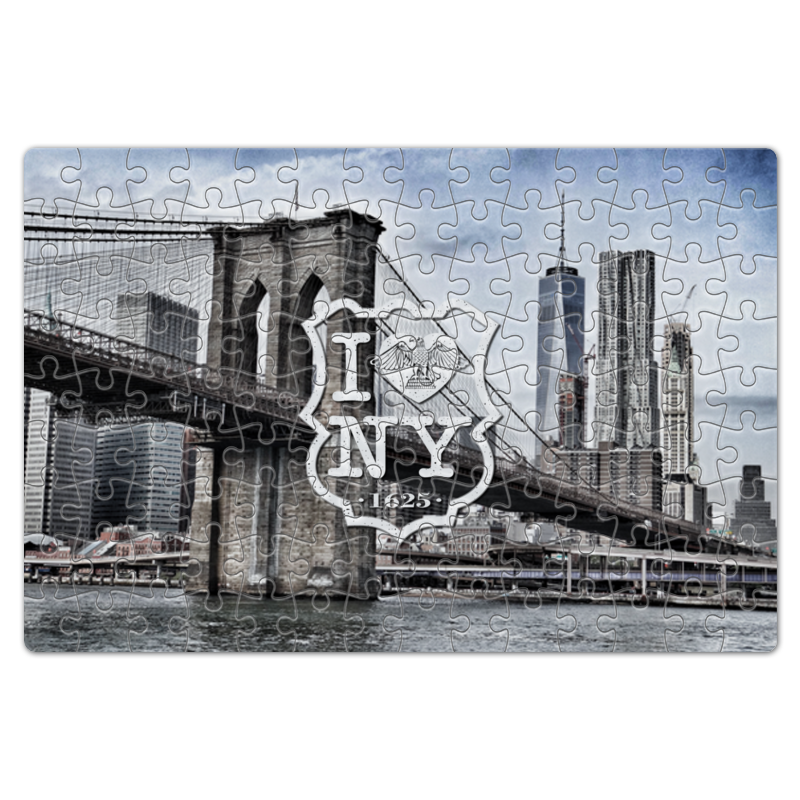 Printio I love new york пазл магнитный 18 x 27 126 элементов printio i love new york