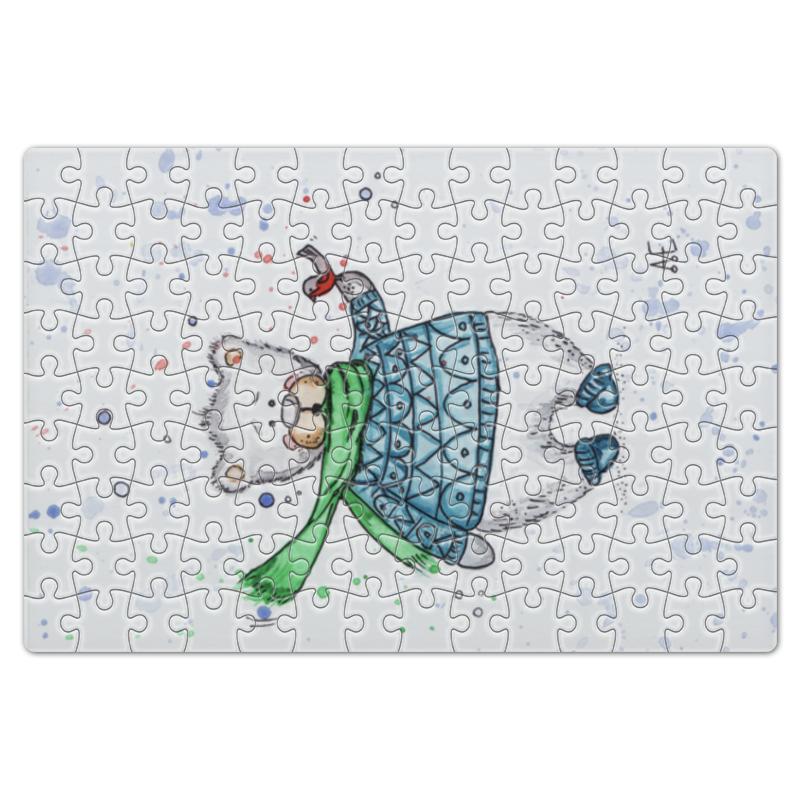 Пазл магнитный 18 x 27 (126 элементов) Printio Белый мишка фиксатор двери мир детства мишка