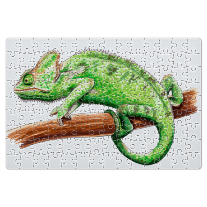 цена на Printio Зеленый хамелеон на ветке
