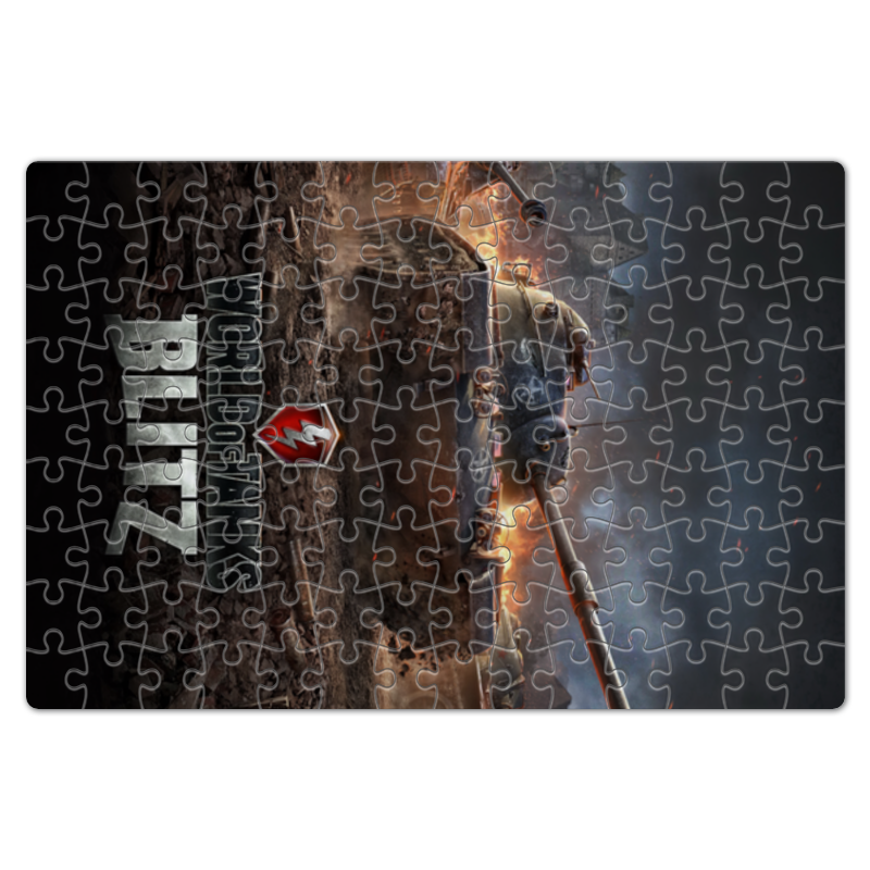 Пазл магнитный 18 x 27 (126 элементов) Printio World of tanks пазл step puzzle world of tanks 160 элементов 94031