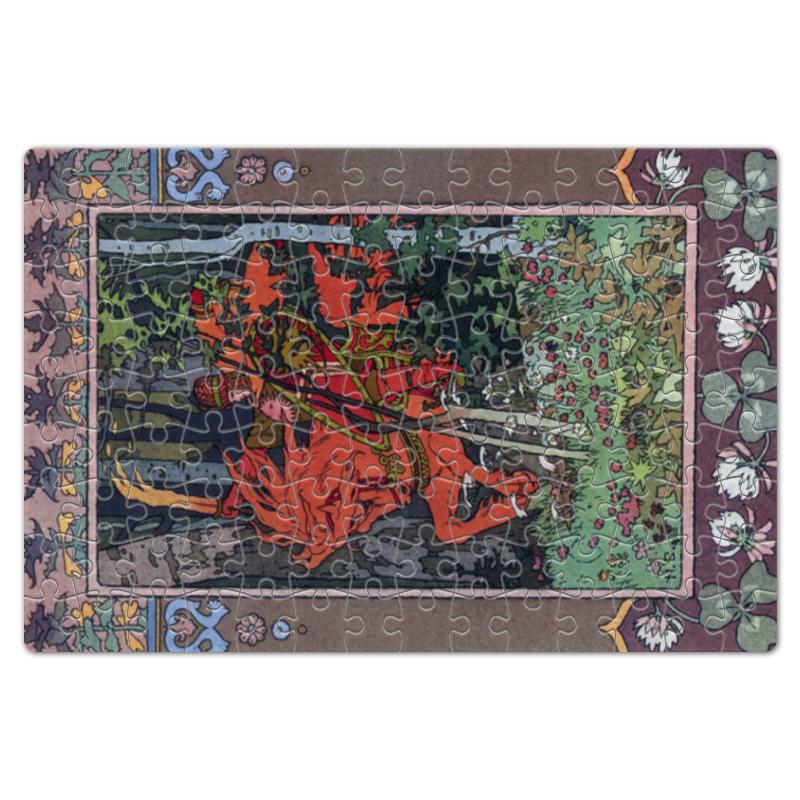 Пазл магнитный 18 x 27 (126 элементов) Printio Красный всадник (иван билибин) воскресный день билибин живопись футляр великие полотна