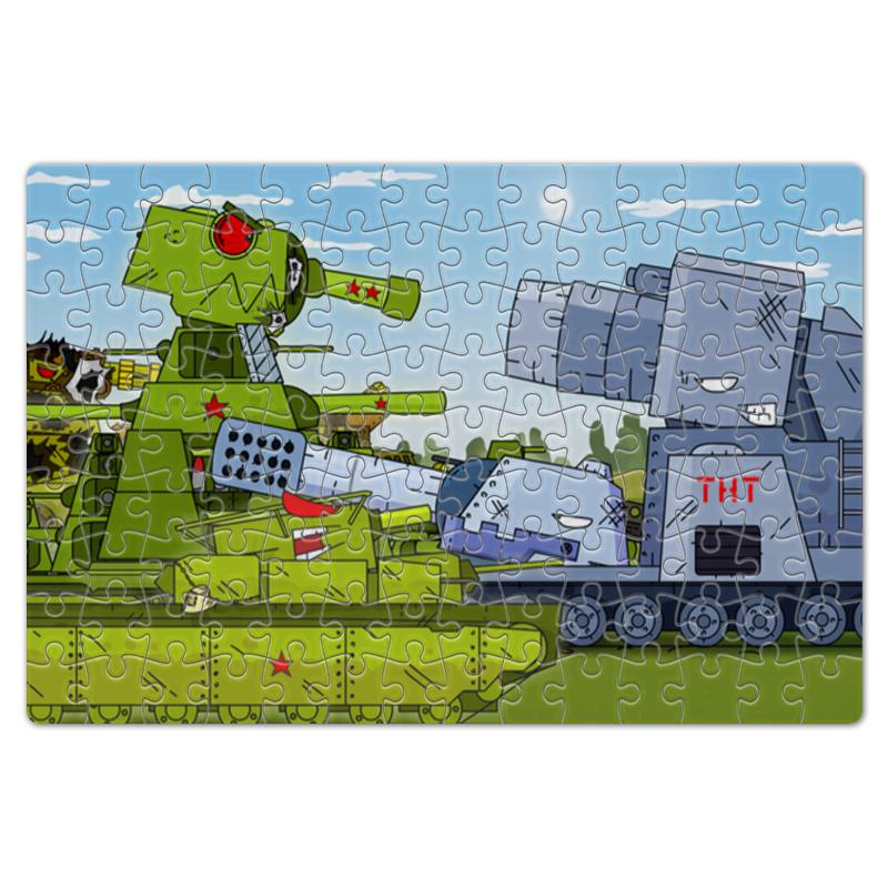 Пазл магнитный 18 x 27 (126 элементов) Printio Геранд шоп - собери танки