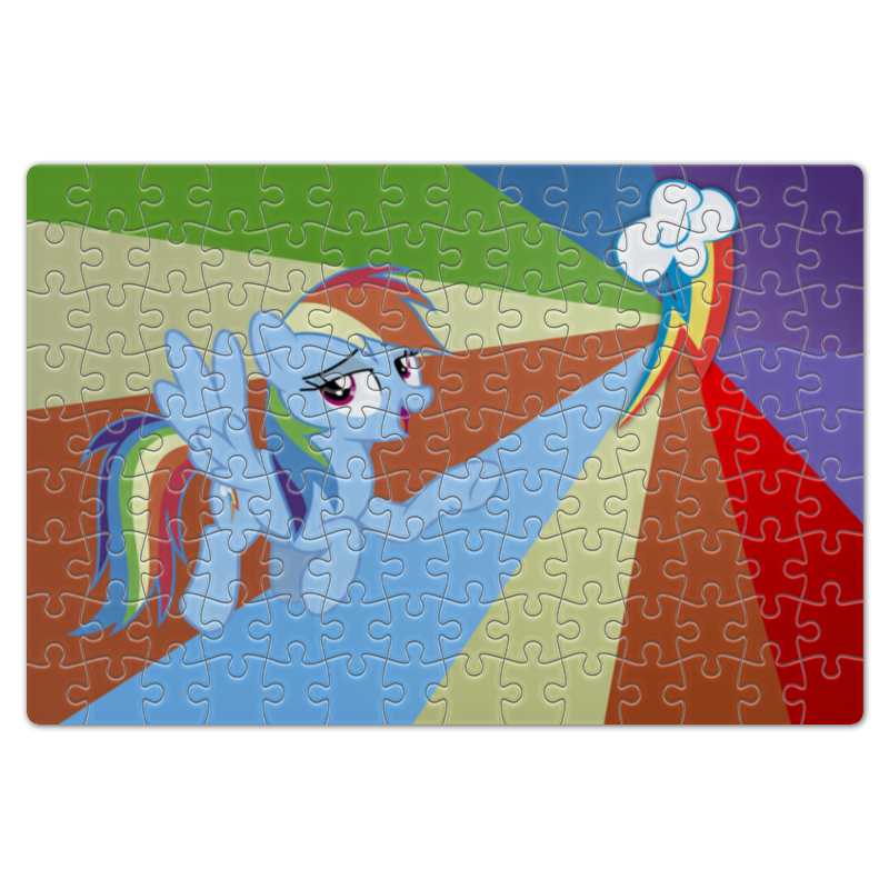Пазл магнитный 18 x 27 (126 элементов) Printio Rainbow dash color line пазл 73 5 x 48 8 1000 элементов printio rarity color line