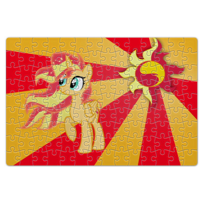 Пазл магнитный 18 x 27 (126 элементов) Printio Sunset shimmer color line пазл 73 5 x 48 8 1000 элементов printio rainbow dash color line