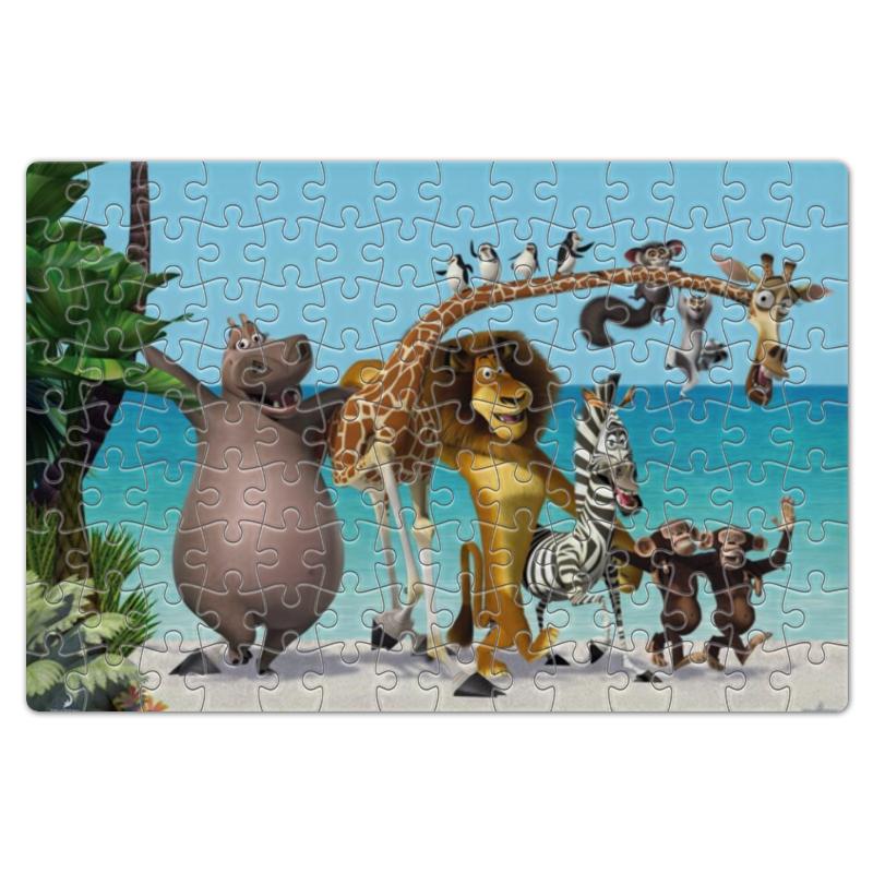 Пазл магнитный 18 x 27 (126 элементов) Printio Герои мультфильма мадагаскар на пляже
