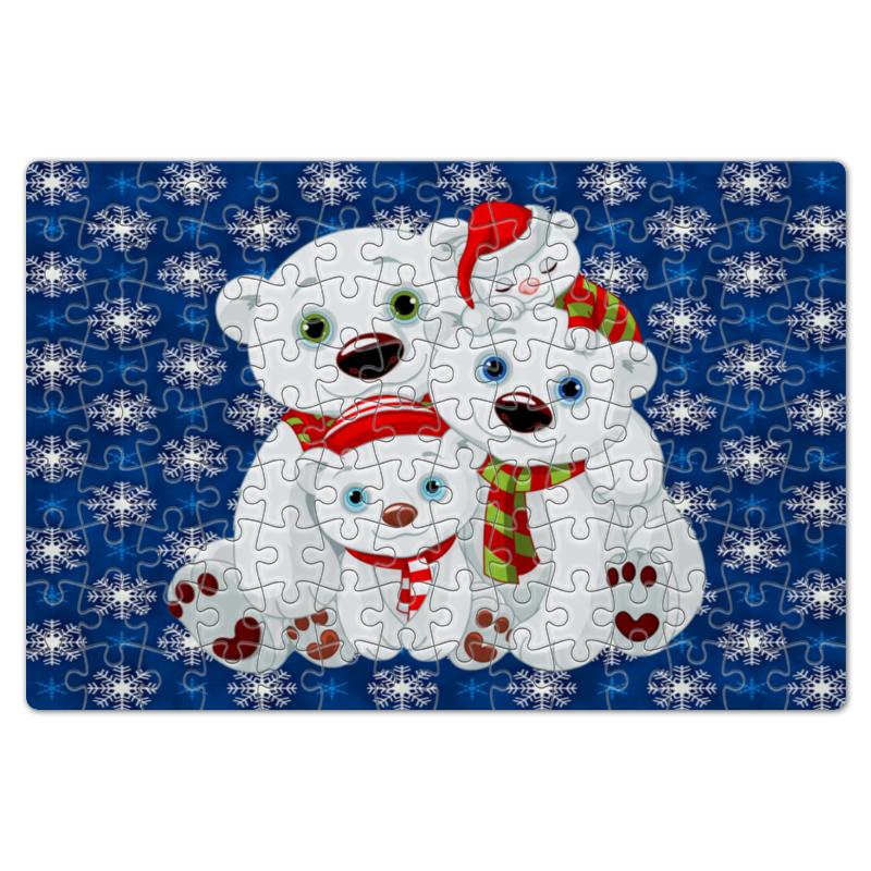 Пазл магнитный 18 x 27 (126 элементов) Printio Белые медведи подушка printio белые медведи