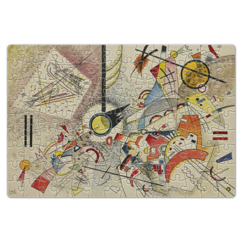 Пазл магнитный 18 x 27 (126 элементов) Printio Bustling aquarelle (василий кандинский) пазл 73 5 x 48 8 1000 элементов printio points василий кандинский
